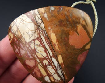 Natural Red Creek Jasper Pendant Cherry Creek Jasper Pendant Multicolor Picasso Jasper Pendant Large Hole Drilled Pendant P273