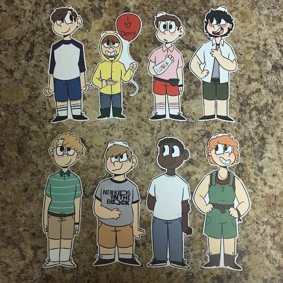 Losers club it 2017 stickers