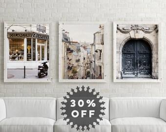 """Paris Prints, Set of 3 Prints, Paris Wall Art, Travel Print Set, Fine Art Photography Prints, Paris Art Prints, Paris Decor """"Trilogy"""""""