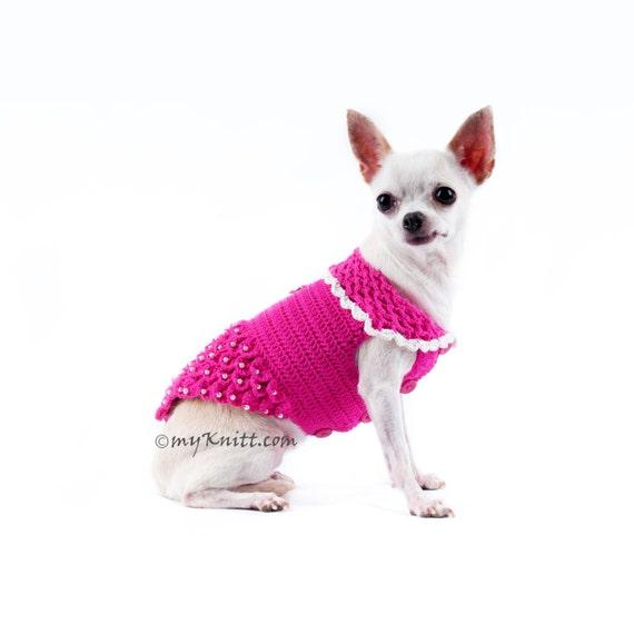 Rosa Hund Geschirr Kleid Welpen Geschirr Mädchen Chihuahua
