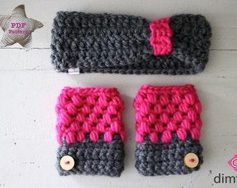 Haakpatroon handschoenen en hoofdband