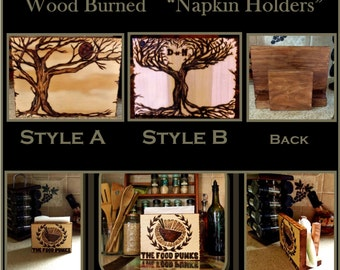 napkin holder,Tree Art,Nature Decor,cool Rustic Decor,Rustic,kitchen decor,wood anniversary,5 year gift,tree,Tree of life,wood napkin holder