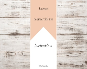 COMMERCIAL USE LICENSE. Extended License, Invitation. License poster.