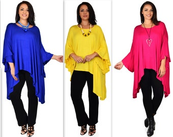 New Comfyplus Oversize Tunic, Plus size Tunic,Lagen look Tunic,Butterfly sleeves Tunic top. One size  1XL to 6XL