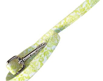 Green and white Dog Leash