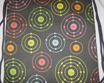 Chemistry Geek Atomic Periodic Shells Backpack/tote Custom Print