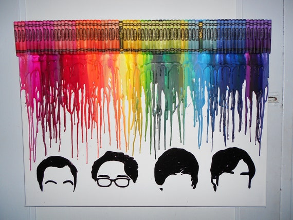 The Big Bang Theory Inspired Melted Crayon Painting