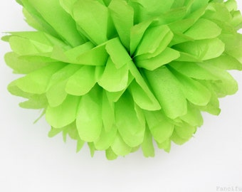 Citrus Lime Green Tissue Paper Pom Poms- Wedding, Birthday, Bridal Shower, Baby Shower, Party Decorations, Garden Party
