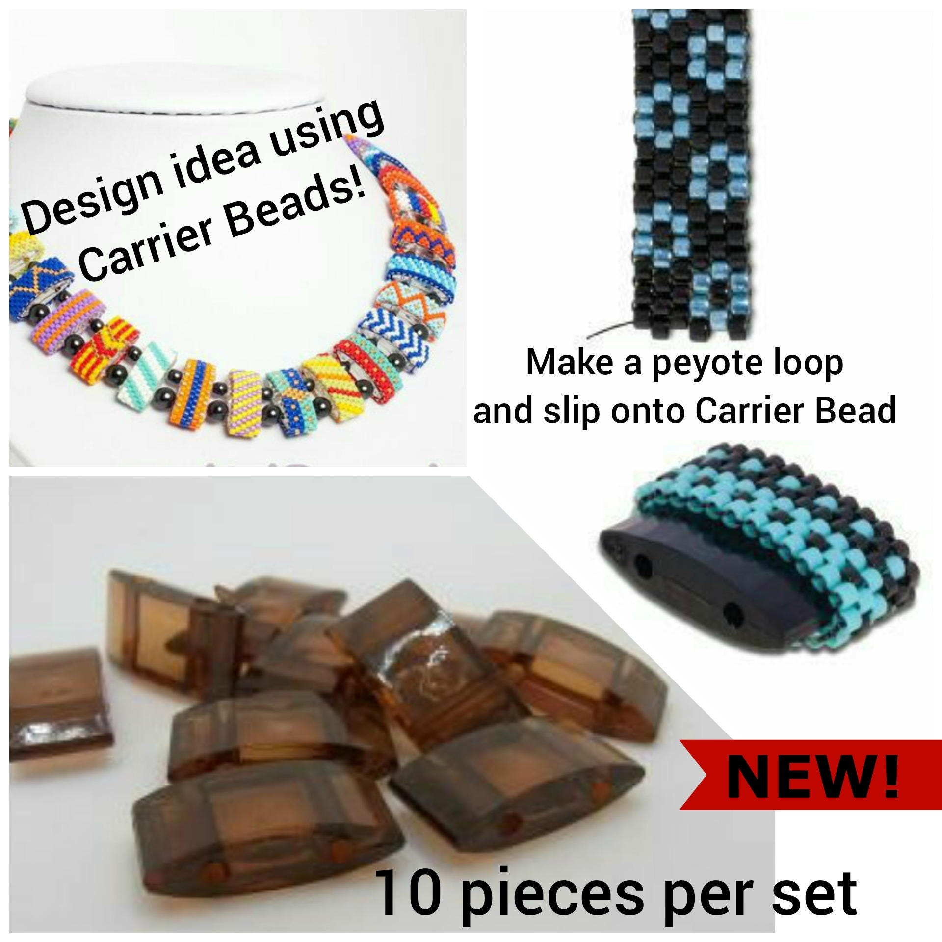 CARRIER BEADS that are clear The fast and easy way to make