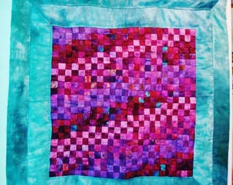 Baby Quilt/Wall Hanging - Hand Quilted/Hand Sewn