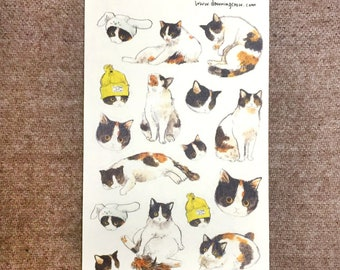 Many Calico cats sticker