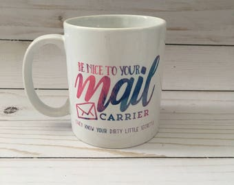 Mail Carrier Mug - Mail Carrier Gift - Mail Carrier Appreciation - Watercolor - Personalized Gift - Rural Mail Carrier -  Postal Worker