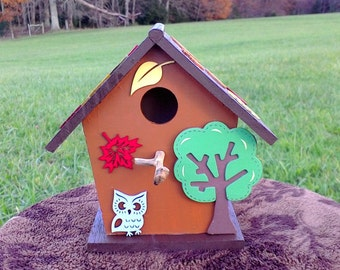 Fall Leaves Birdhouse