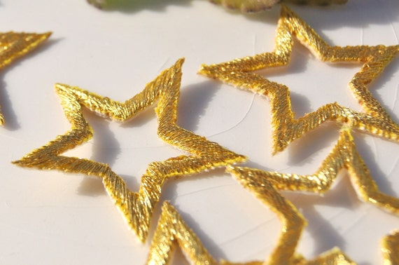10pcs Sequins Patch For Clothing Glitter Jacket Iron On Patches Applique  Star Biker Badge Embroidered Bordado