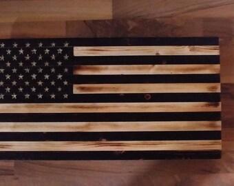 Charred Rustic US flag Old Glory