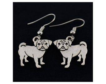 Pug Charm Earrings