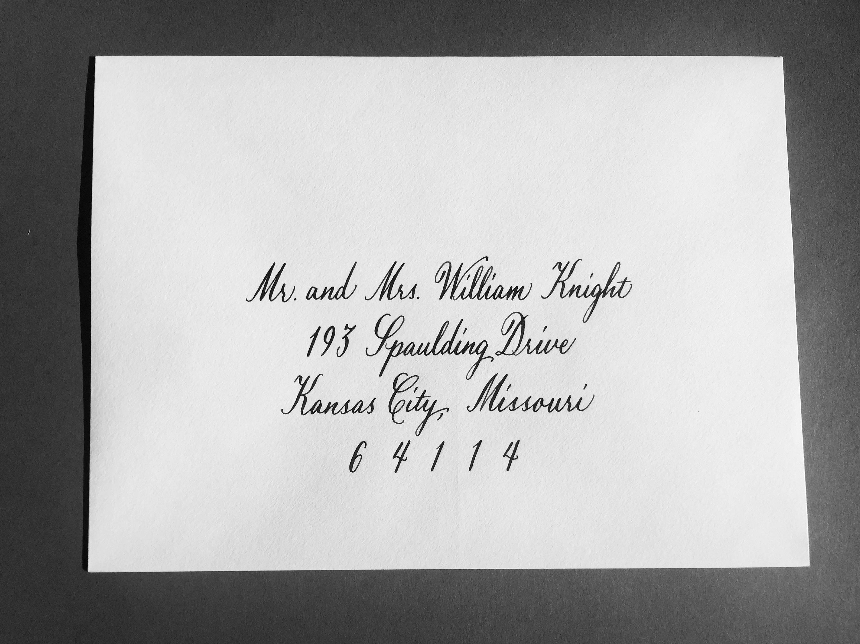 Calligraphy Envelope Addressing Script Style