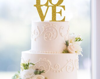 Philadelphia Love Gold Cake Topper Love Gold Wedding Acrylic Cake Topper Wedding Gift Bridal Gift Cake Decorations Valentines Day (T042)