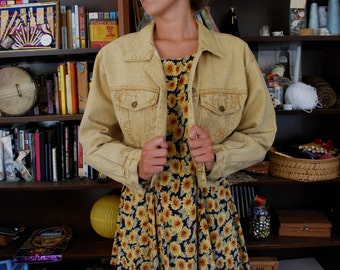 Vintage Paris Blues Tan Denim Jacket