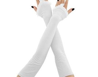 long gloves bridal gloves women gloves fingerless gloves white gloves wedding gloves arm warmers fabric gloves bride wedding white 2325