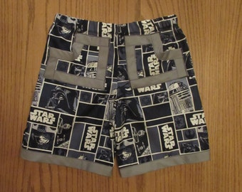 Star Wars cotton shorts / pockets / 1/2 T to boys 14