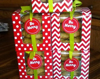 Gift box of large homemade cookies