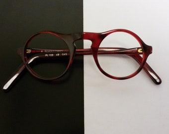 Round eyeglasses / vintage 1980s eyewear / made in Germany / NOS /