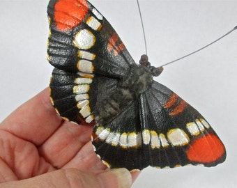 Leather California Sister butterfly brooch