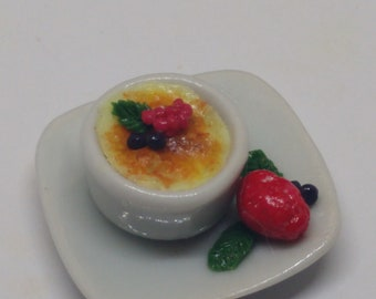 1:12 Creme brulee dollhouse miniatures