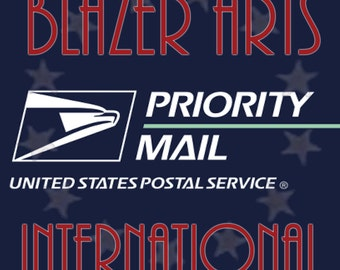 Shipping Upgrade to USPS Priority International Mail on Your Order from Happily Ever After by Blazer Arts