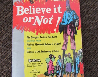 Ripley's Believe It Or Not! 5th Series 1959 Free Shipping