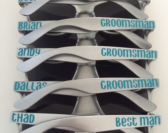 Personalized Sunglasses, Bachelorette Favors, Bachelorette Party, Custom Sunglasses, Wedding Favors