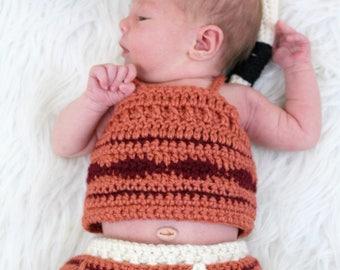 Newborn Photo Prop Outfits. Crochet photo prop.