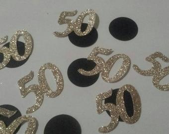 100 count 50th birthday or anniversary table decor confetti