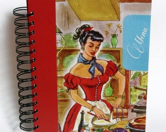 Blank cook book with table of contents, french book, recipe book