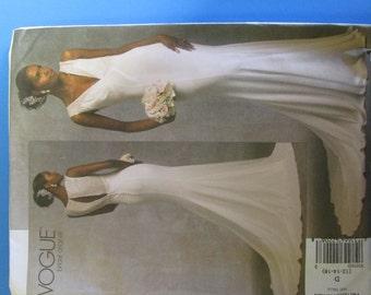 Vogue V1032 Wedding Gown  Pattern, UNCUT, Size 12-14-16
