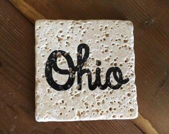 Tumbled Stone Ohio Coasters