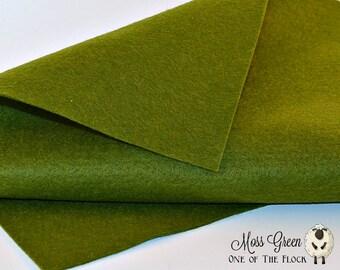 Moss Green Wool Felt, Merino Wool Blend Felt, Wool Felt Yardage, Wool Felt Fabric, Green Felt Fabric, Green Felt Yardage, Green Felt