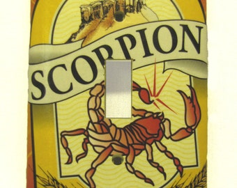 The Stinger - Recycled Scorpion Pale Ale Single Light Switch Cover, Beer, Orange, Yellow, Moab, Utah, Desert, Sun