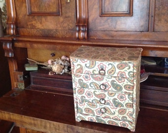 antique fabric drawers