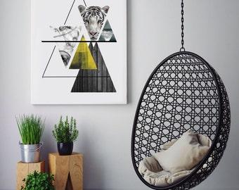 Wall art, modern wall art, abstract art, modern decor, art prints, minimalist print, geometric, giclee print, original artwork, modern art