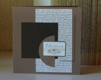 Wedding card, wedding congratulations card