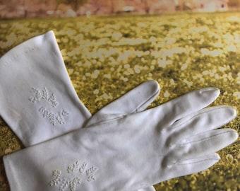 Vintage Wedding Gloves, Vintage Evening Gloves, Vintage Special Occasion Gloves, Vintage Cotton Gloves, Retro Gloves
