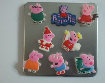 Pink Pig Frig Magnets OR Croc Shoe Charms Cutest Magnets  Hang Kids Artwork Photos On Frig Strong Neodymium Magnets