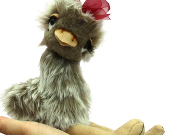 Esther Ostrich digital soft toy sewing pattern