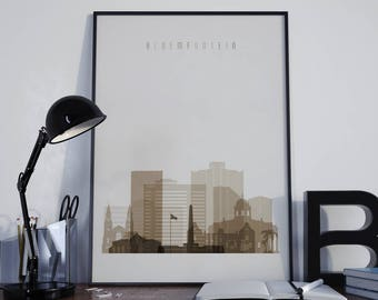 Bloemfontein Art Bloemfontein Print Bloemfontein Poster Bloemfontein Photo Bloemfontein City Wall Art Bloemfontein Skyline Watercolor