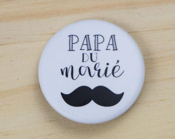 Wedding father of the groom badge