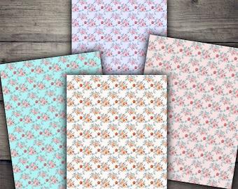 A4 Floral Backgrounds - Digital Paper Printables