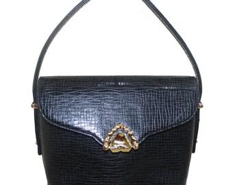 Emanuel UNGARO Vintage Black Leather Bag