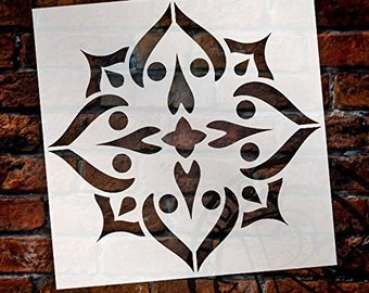 Mandala - Spades - Complete Stencil by StudioR12   Reusable Mylar Template   Use to Paint Wood Signs - Pallets - Pillows - Wall Art -...